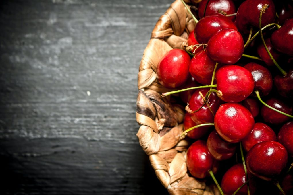 Cherry in the basket.